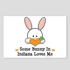 Some Bunny In Indiana Loves Me Postcards (Package