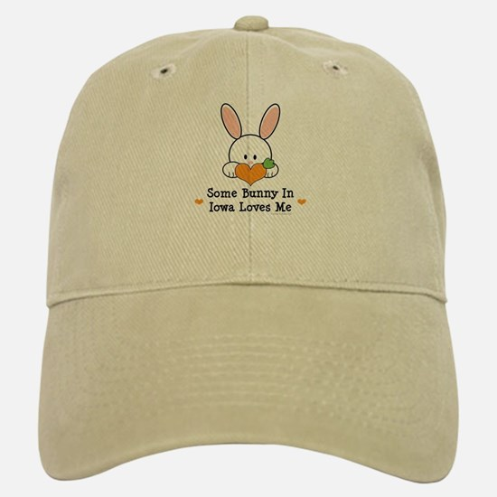 Some Bunny In Iowa Loves Me Baseball Baseball Cap