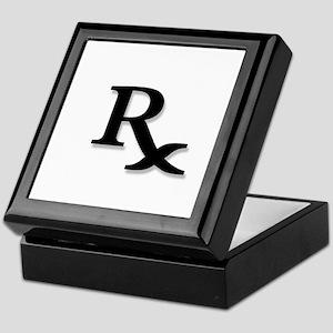 Pharmacy Rx Symbol Keepsake Box
