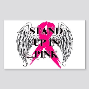 Stand Up In Pink Sticker (Rectangle)