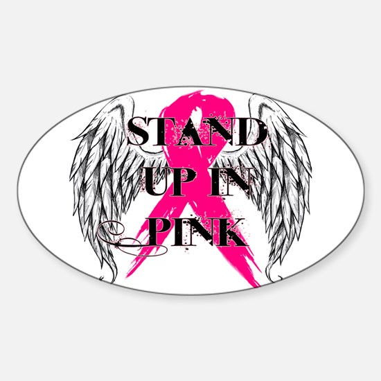 Stand Up In Pink Sticker (Oval)