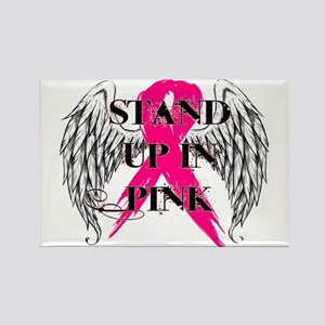 Stand Up In Pink Rectangle Magnet