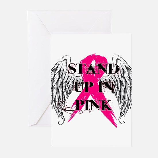 Stand Up In Pink Greeting Cards (Pk of 20)