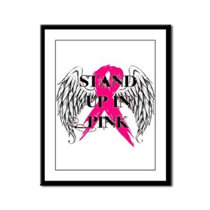 Stand Up In Pink Framed Panel Print