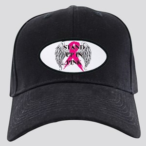 Stand Up In Pink Black Cap