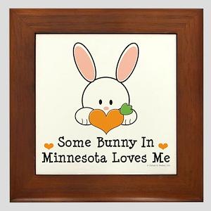 Some Bunny In Minnesota Loves Me Framed Tile