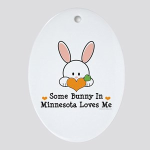 Some Bunny In Minnesota Loves Me Ornament (Oval)