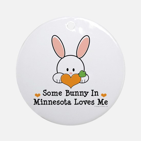Some Bunny In Minnesota Loves Me Ornament (Round)