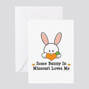 Some Bunny In Missouri Loves Me Greeting Card
