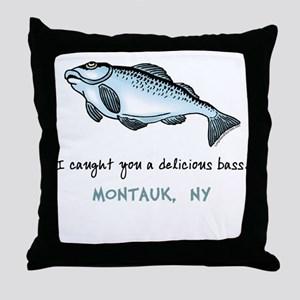 Delicious Bass Montauk Throw Pillow