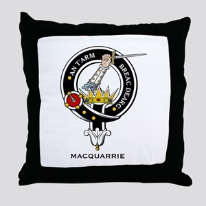 MacQuarrie Clan Crest Badge Throw Pillow