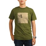 Jack Russell Vintage Style Organic Men's T-Shirt (