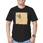 Jack Russell Vintage Style Men's Fitted T-Shirt (d