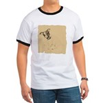 Jack Russell Vintage Style Ringer T
