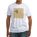 Jack Russell Vintage Style Fitted T-Shirt