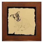 Jack Russell Vintage Style Framed Tile