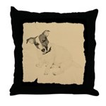 Jack Russell Vintage Style Throw Pillow