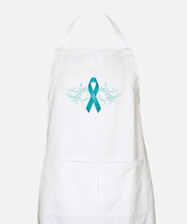 Teal Ribbon Apron