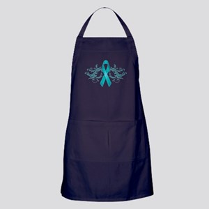 Teal Ribbon Apron (dark)