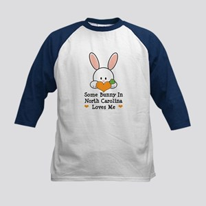 Some Bunny In North Carolina Kids Baseball Jersey
