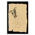 Jack Russell Vintage Style Large Poster