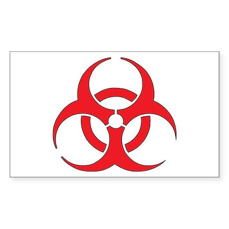 Biohazzard Sticker (Rectangle)