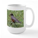 Robin with Worm Large Mug