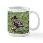 Robin with Worm Mug