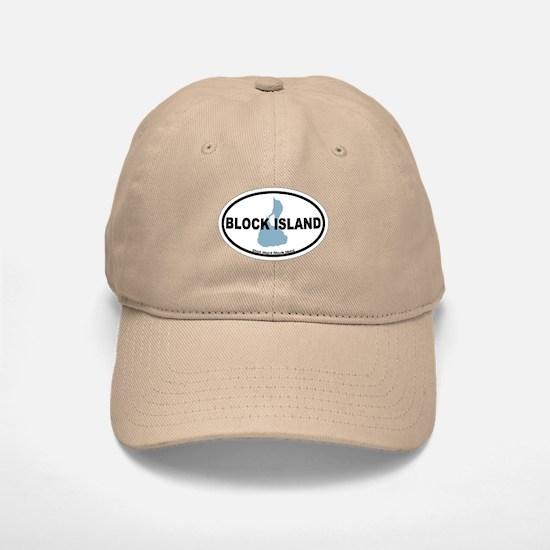 Block Island RI - Oval Design. Baseball Baseball Cap