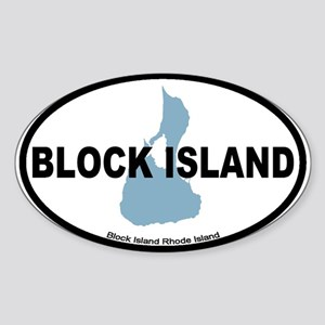 Block Island RI - Oval Design. Sticker (Oval)