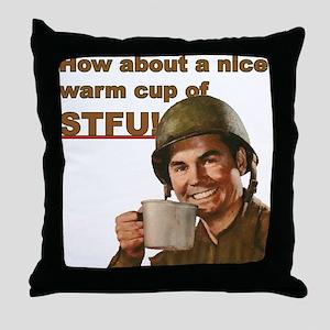 STFU Throw Pillow