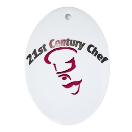 21st Century Chef Ornament (Oval)