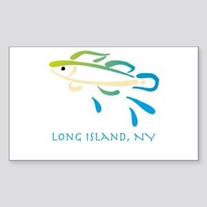 Long Island Fish Sticker (Rectangle)