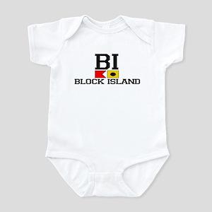 Block Island RI - Nautical Design Infant Bodysuit
