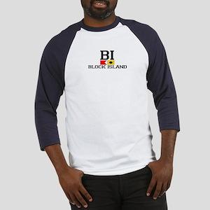 Block Island RI - Nautical Design Baseball Jersey