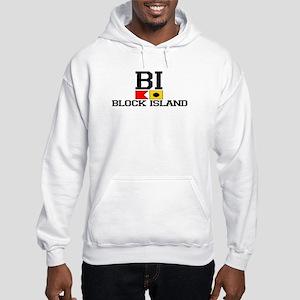 Block Island RI - Nautical Design Hooded Sweatshir