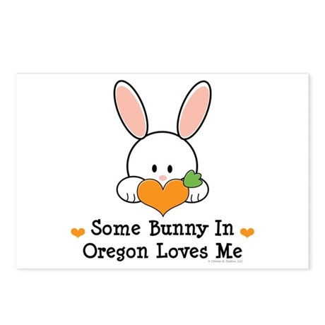 Some Bunny In Oregon Loves Me Postcards (Package o