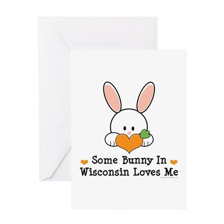 Some Bunny In Wisconsin Greeting Card