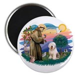 St Francis #2 / Old English (#6) Magnet
