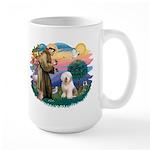 St Francis #2 / Old English (#6) Large Mug