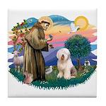 St Francis #2 / Old English (#6) Tile Coaster
