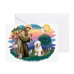 St Francis #2 / Old English (#6) Greeting Cards (P