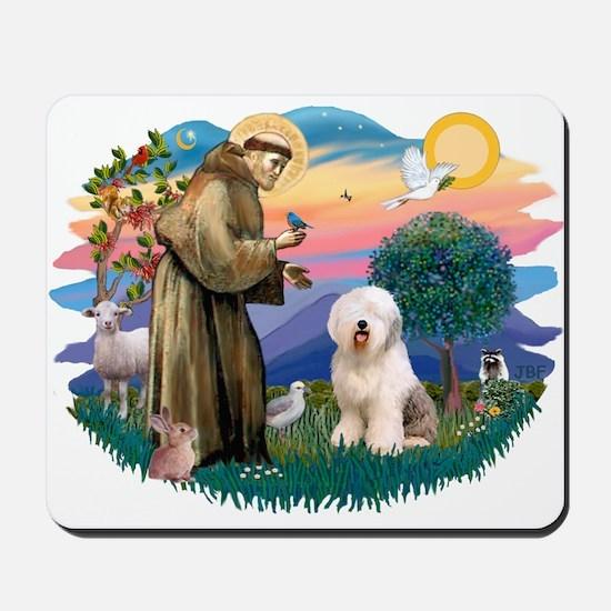 St Francis #2 / Old English (#6) Mousepad