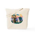 St Francis #2 / Old English (#6) Tote Bag