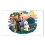 St Francis #2 / Old English (#6) Sticker (Rectangl