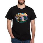 St Francis #2 / Old English (#6) Dark T-Shirt