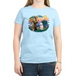 St Francis #2 / Old English (#6) Women's Light T-S
