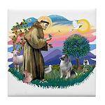 St Francis #2 / Keeshond Tile Coaster