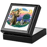 St Francis #2 / Keeshond Keepsake Box