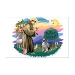 St Francis #2 / Keeshond Mini Poster Print